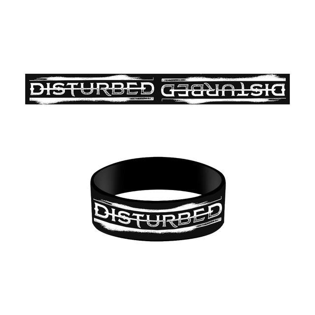 Disturbed New Logo Rubber Bracelet