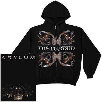 Disturbed Four Faced Zip Hoodie