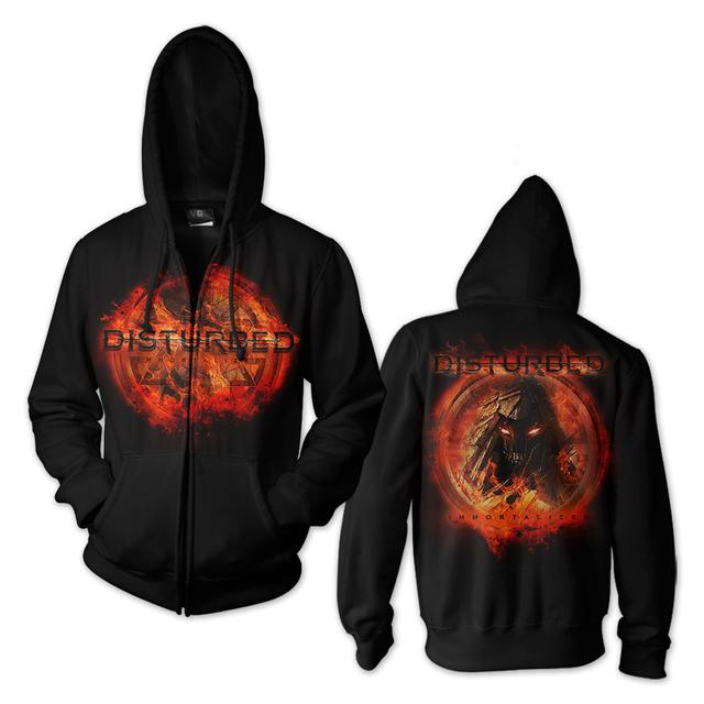 Disturbed On Fire Hoodie