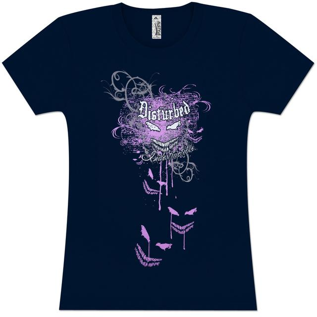 Disturbed Indestructible Flourish Girls' Fitted T-Shirt