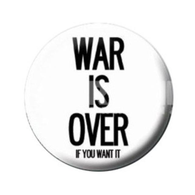 John Lennon War Is Over Button