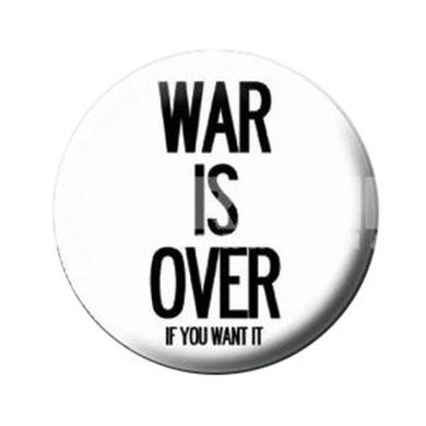 John Lennon War Is Over Button