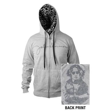 John Lennon New York City Zip Up Hooded Sweatshirt