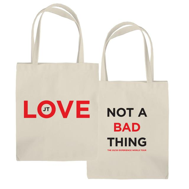 Justin Timberlake Not A Bad Thing Tote Bag
