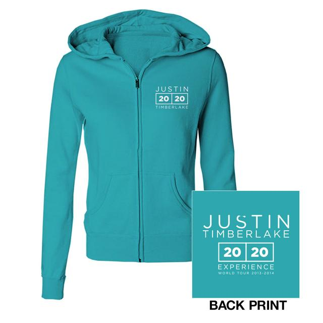 Justin Timberlake The 20/20 Experience World Tour Teal Jrs Hoodie