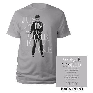 Justin Timberlake Silver World Tour UK/EUR T-Shirt