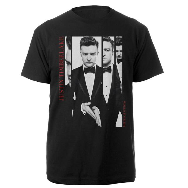 Justin Timberlake All Dressed Up In Black and White Tee