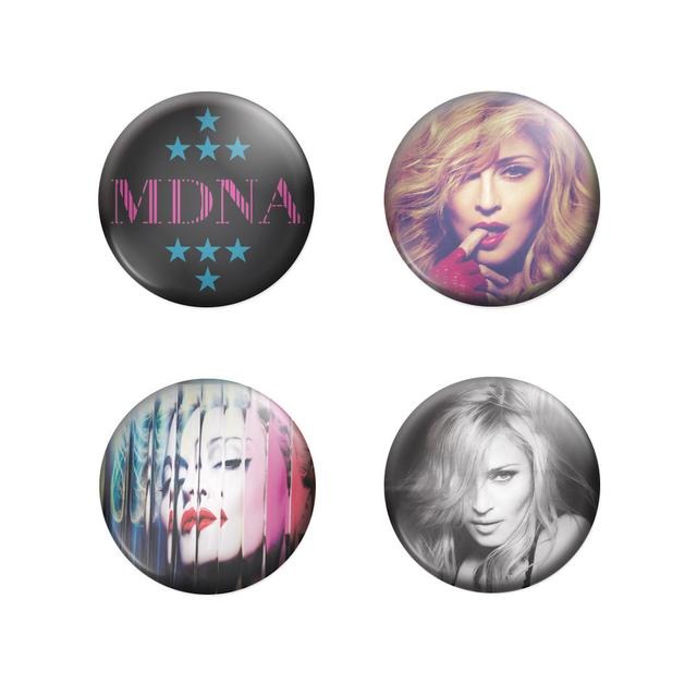 Madonna MDNA Button Badges