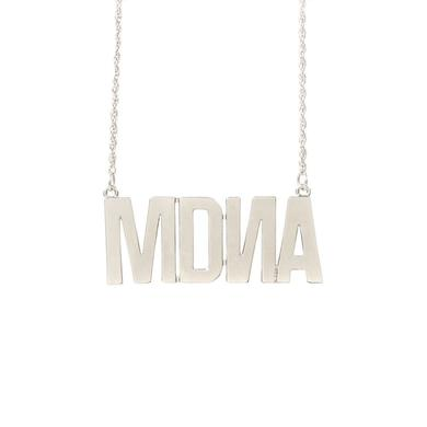 """Madonna """"""""MDNA"""""""" Charm White Gold Necklace"""