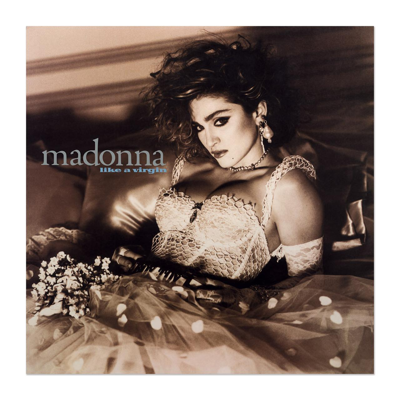 madonna official like a virgin album cover litho. Black Bedroom Furniture Sets. Home Design Ideas