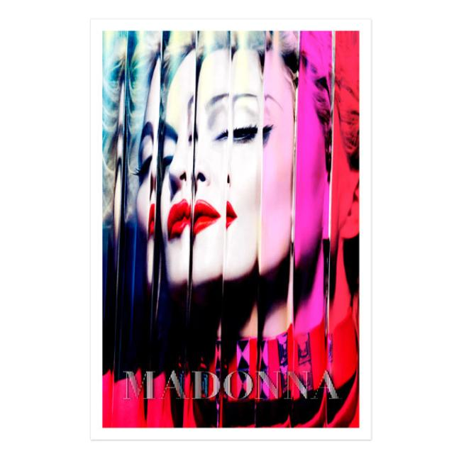 Madonna Official MDNA Album Cover Lithograph.