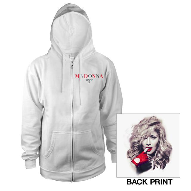 Madonna Red Glove Zip Hoodie