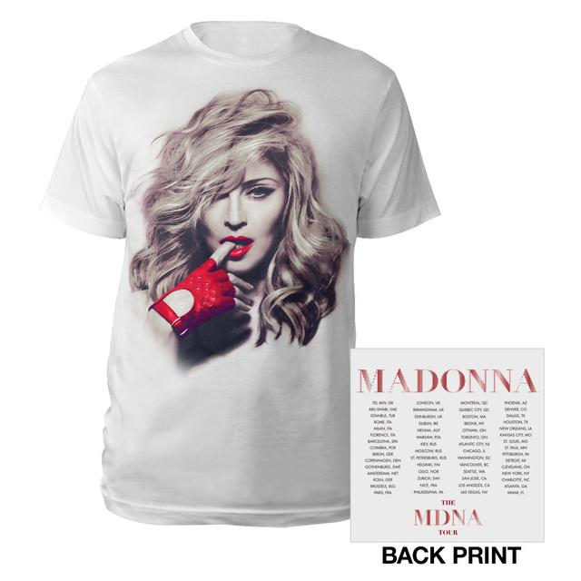 Madonna MDNA Red Glove/Tour Tee