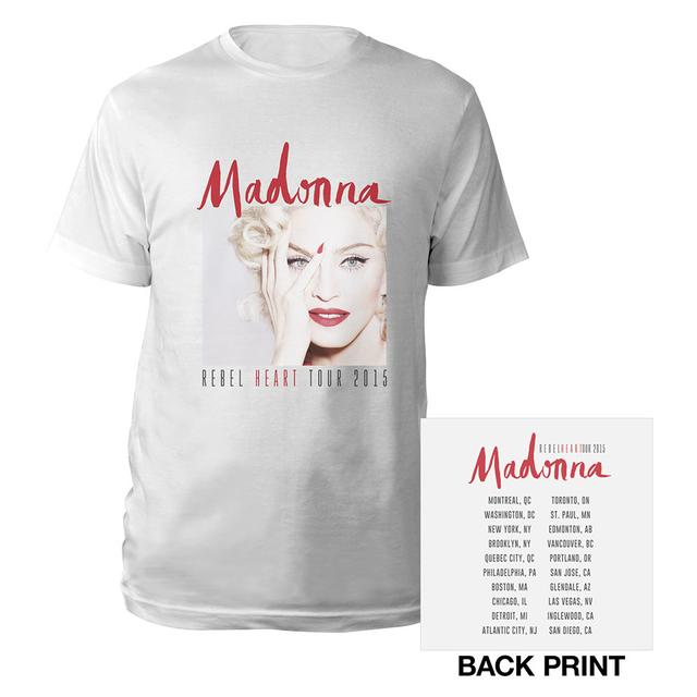 Madonna Rebel Heart Photo/Tour Tee
