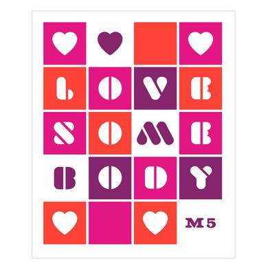 Maroon 5 Love Somebody Sticker Sheet