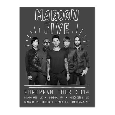 Official Maroon 5 2014 European Tour Poster*
