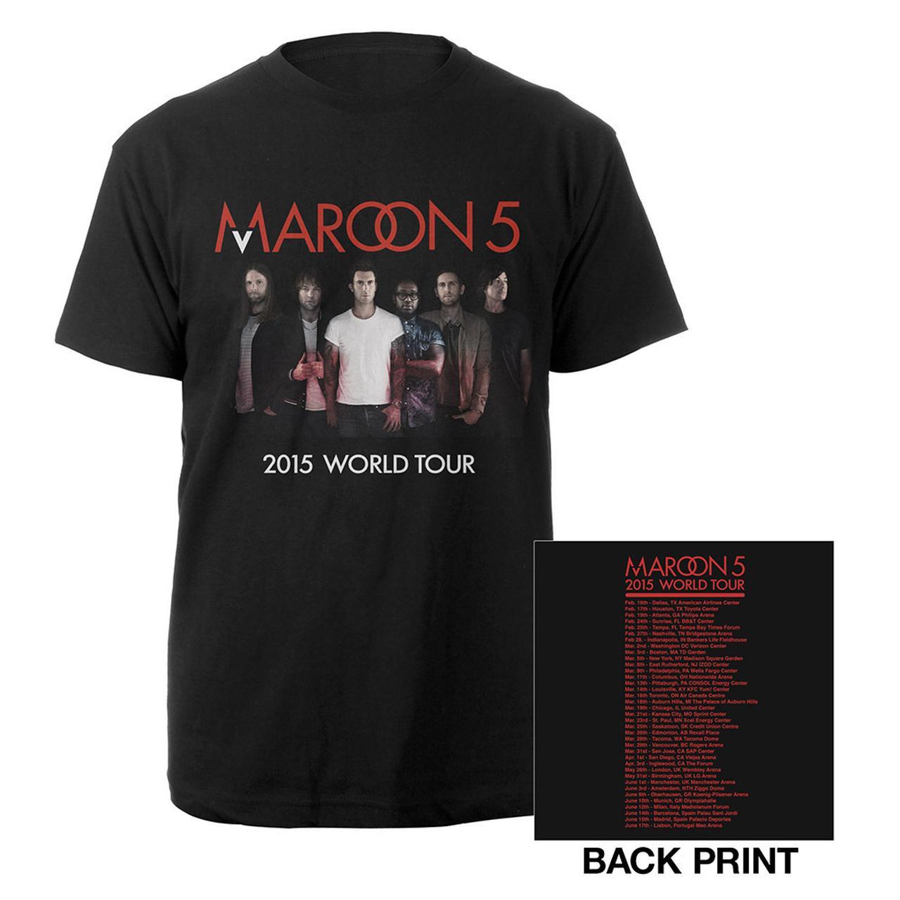 Maroon  World Tour  Merchandise