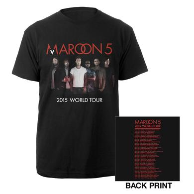 Maroon 5 Official Maroon V World Tour Tee