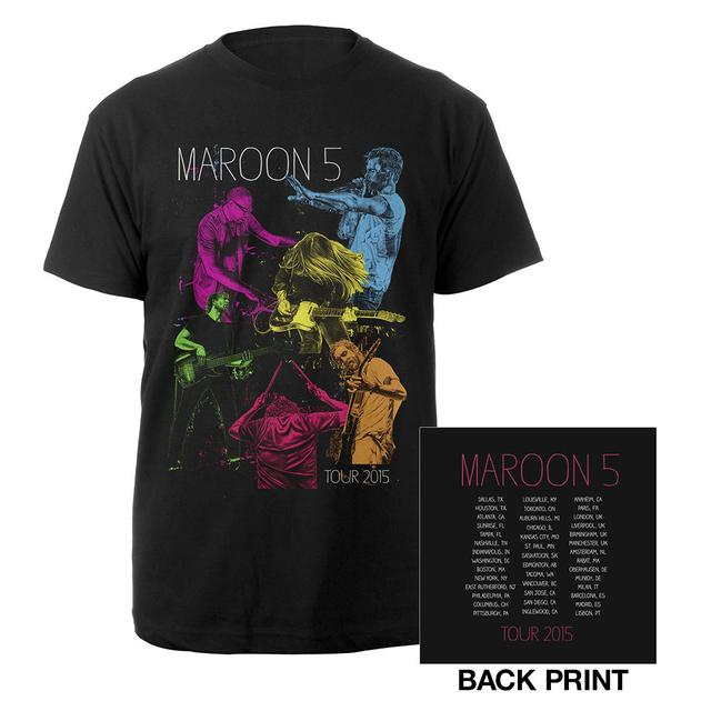 Maroon 5 Maroon V Tour Neon Tee