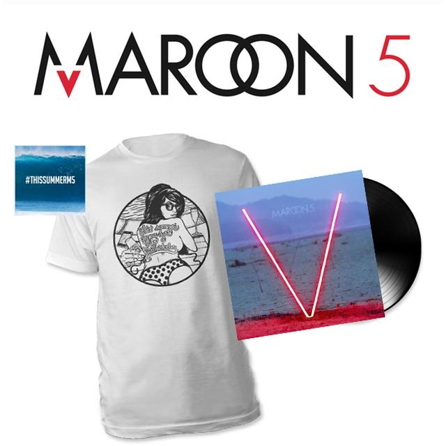 "Maroon 5 T-Shirt + ""This Summer"" Download + Special ""V"" Vinyl"