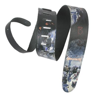 Megadeth Adjustable Leather Guitar Strap