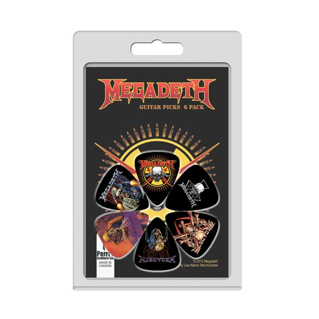 Megadeth Guitar Pick 6 Pack