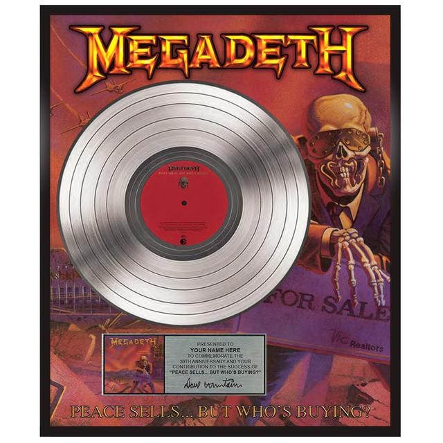 Megadeth Customized Peace Sells… but Who's Buying? 30th Anniversary Plaque