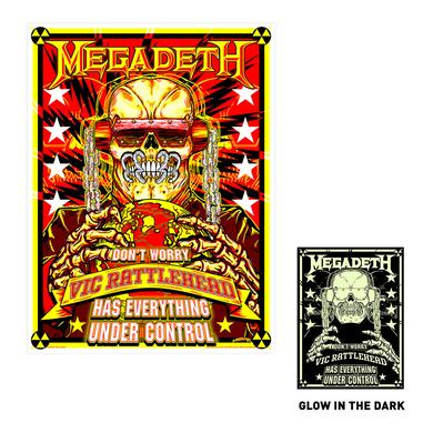 Megadeth Limited Edition Glow In The Dark Silk Screen Print