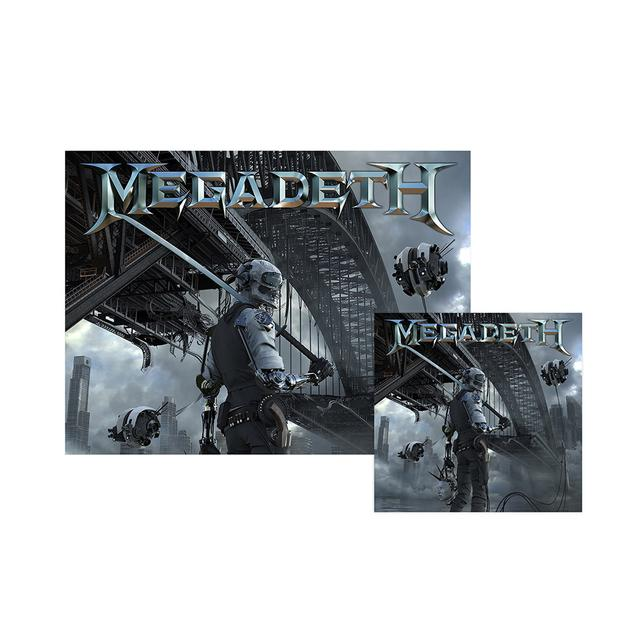 Megadeth Dystopia CD & Signed Litho