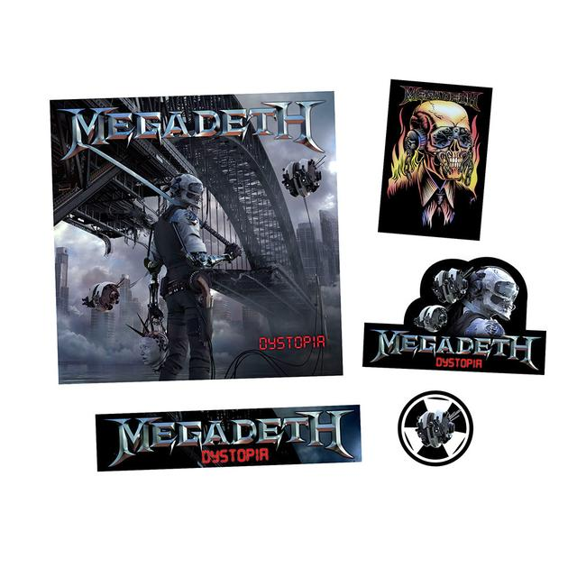 Megadeth Dystopia CD & Stickers
