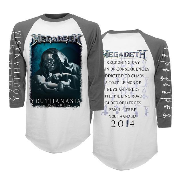 Megadeth 20th Anniversary Youthanasia Raglan