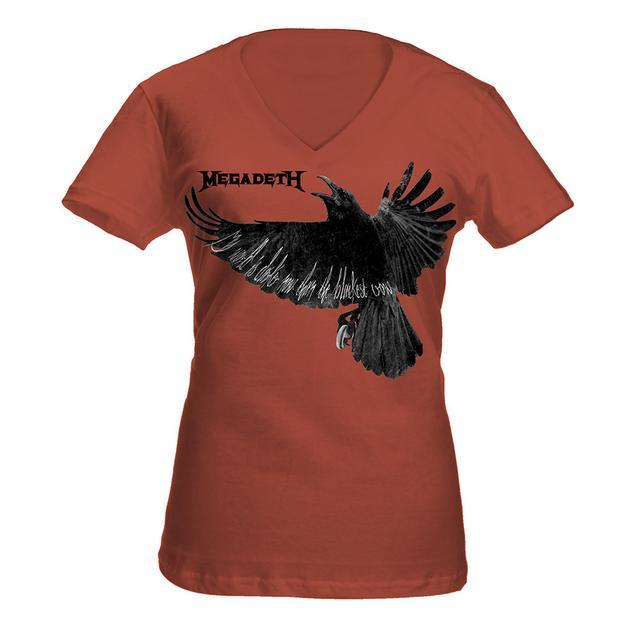 Megadeth Women's Crow V Neck
