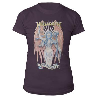 Megadeth Women's Liberty Or Deth Tee