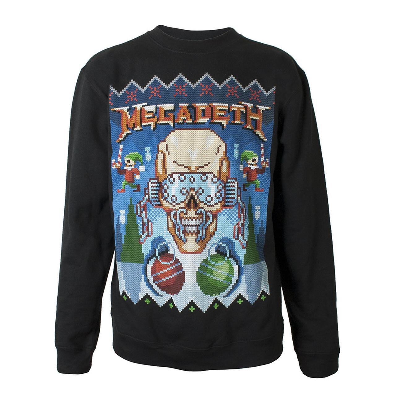 megadeth ugly megadeth christmas crewneck sweatshirt - Misfits Christmas Sweater