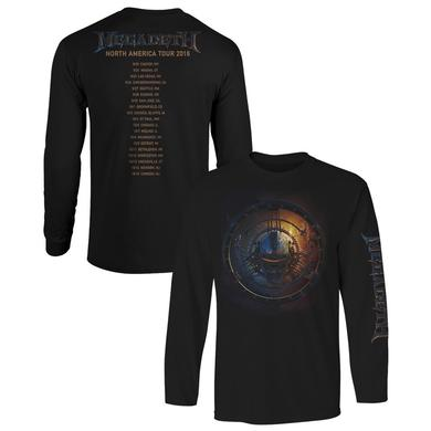 Megadeth US Tour 2016 Itin Long Sleeve