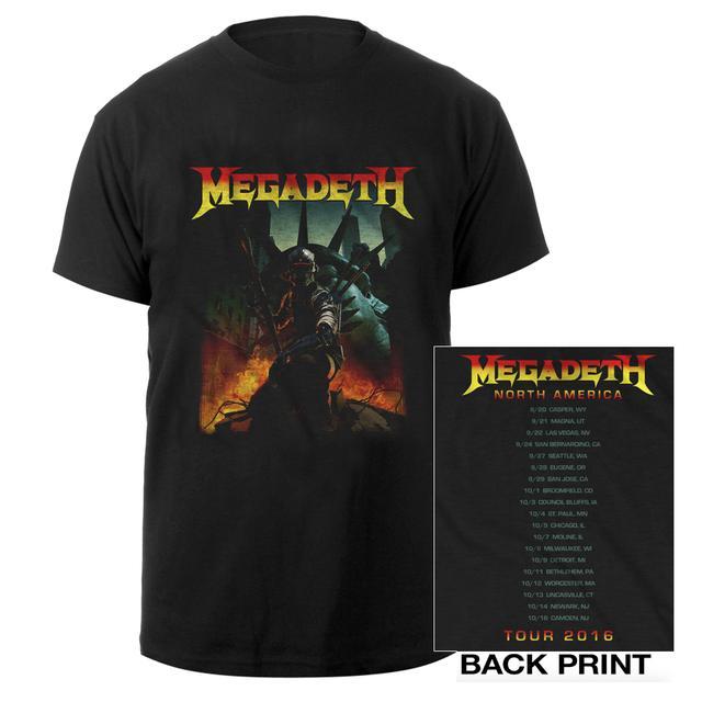 Megadeth Liberty Vic US Tour 2016 Itin Tee