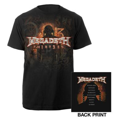 Megadeth 2012 Th1rT3en Tour Tee