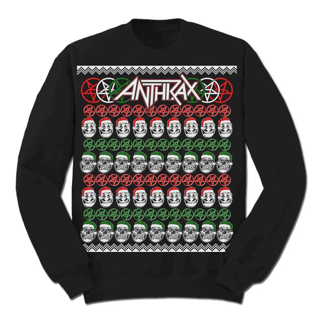 Anthrax NOTMAN Skulls Christmas Sweater