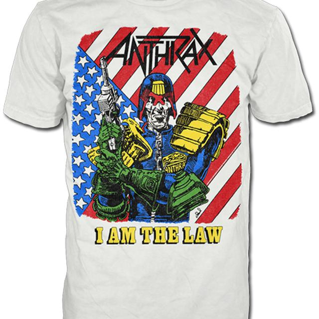 Anthrax I AM THE LAW VINTAGE TEE