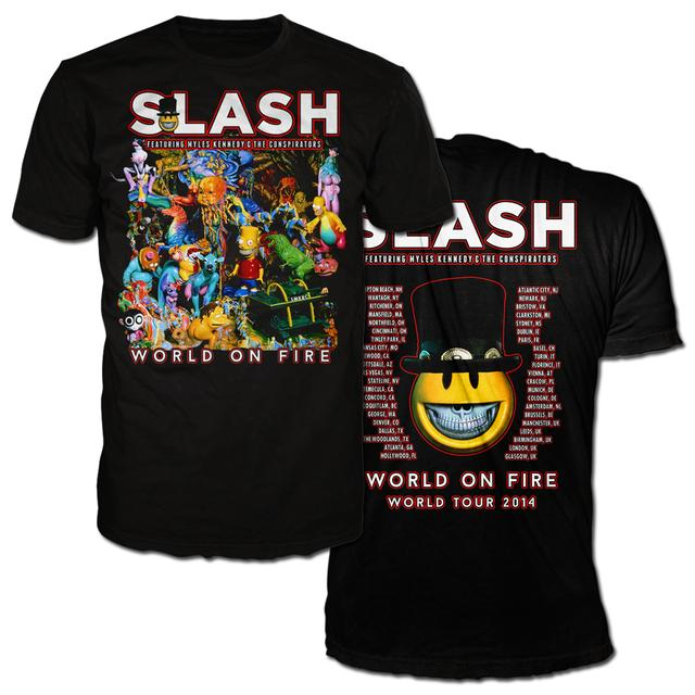 Slash ALBUM ART TOUR TEE WITH 2014 ITINERARY