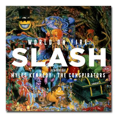Slash WORLD ON FIRE ALBUM ART LITHOGRAPH