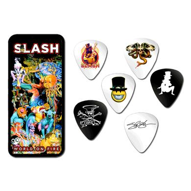 Slash World On Fire Pick Tin Set