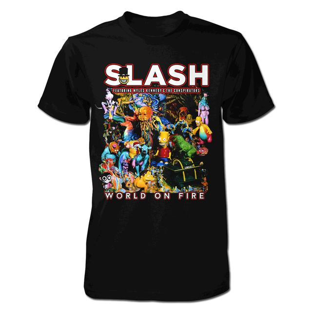 Slash World on Fire Cover Tee