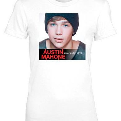 Austin Mahone WHAT ABOUT LOVE GIRLS WHITE TEE