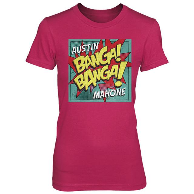 Austin Mahone BANGA BANGA TEE ON FUCHSIA