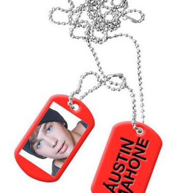 Austin Mahone WHAT ABOUT LOVE RED DOG TAGS
