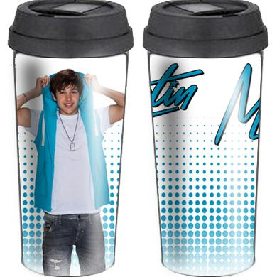 Austin Mahone TEAL HOODIE INSULATED TRAVEL MUG