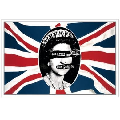 Sex Pistols God Save The Queen Flag Lithograph. Limited Collector's Edition