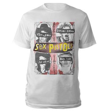 Sex Pistols Faces White T-shirt