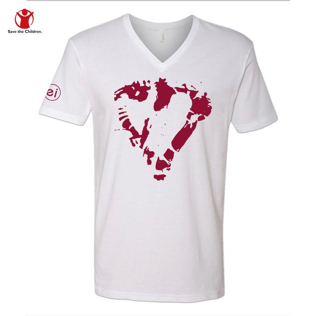 Enrique Iglesias Heart Men's V-Neck Charity T-Shirt